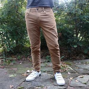 Zara Man Camel Corduroy Slim Fit Jeans Pants 32